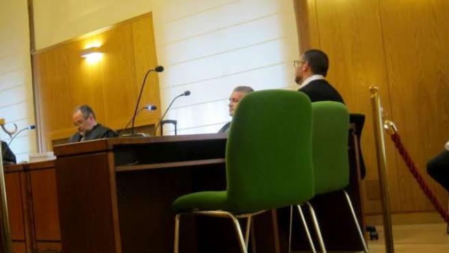 El acusado, durante la primera jornada del juicio en la Audiencia de Valladolid.