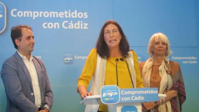 Dolores López, en rueda de prensa