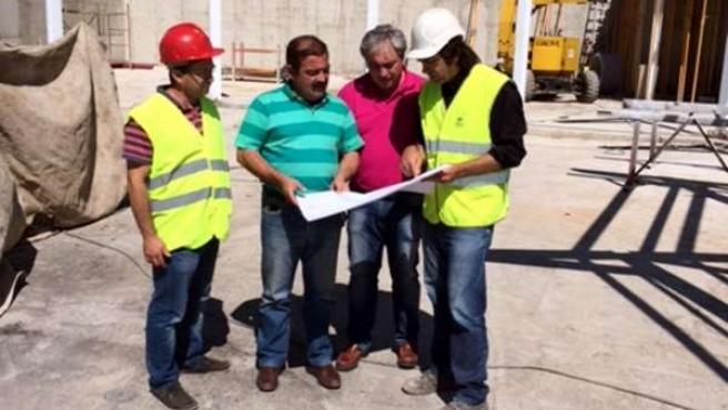 Visita al centro de usos múltiples de Santiago Pontones