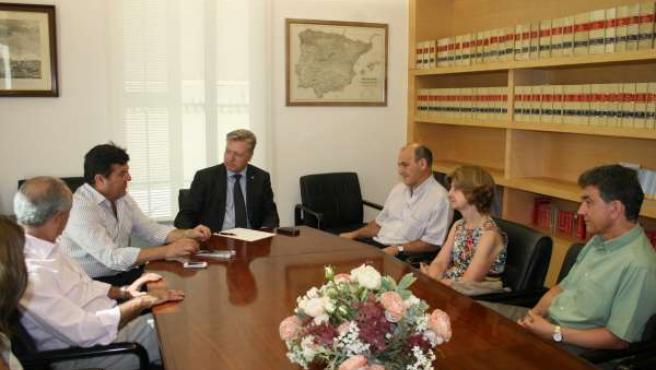Reunión del subdelegado del Gobierno