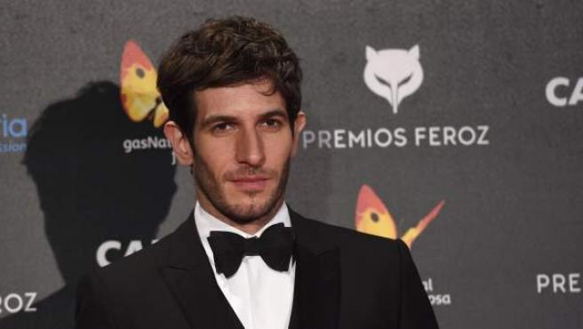 El actor Quim Gutiérrez durante la entrega de los Premios Feroz 2015.