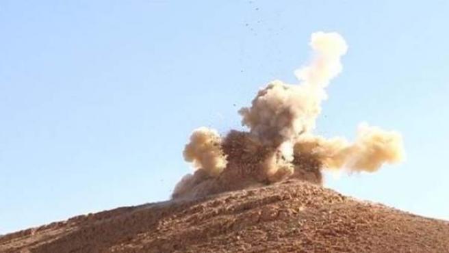 Estado Islámico ha comenzado a destruir con explosivos santuarios de Palmira en Siria.