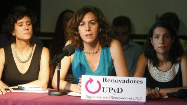 Irene Lozano, durante la presentación de su candidatura a la dirección de UPyD.
