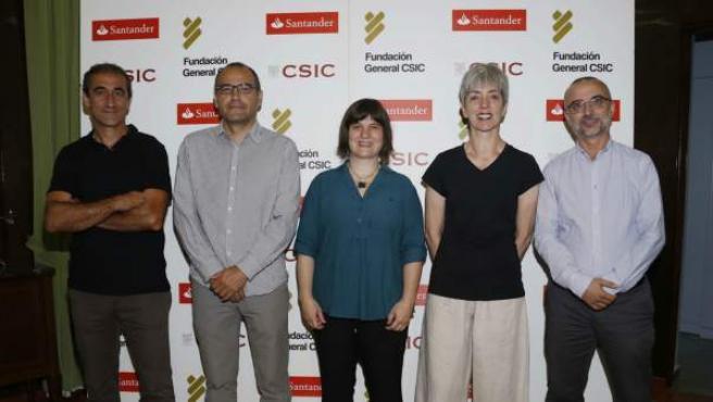 """Pablo Vargas; Jaime Bosh, Beatriz Arroyo; Annie Machordom y José A. Godoy, investigadores de la iniciativa del CSIC: """"Cero Proyectos Especies Amenazadas"""""""