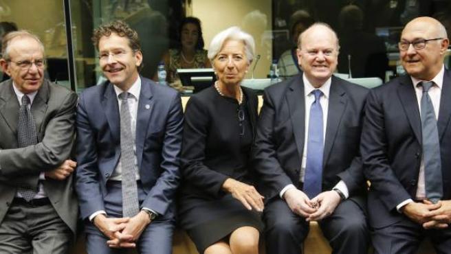 Reunión de los ministros de finanzas europeos sobre Grecia en Bruselas.