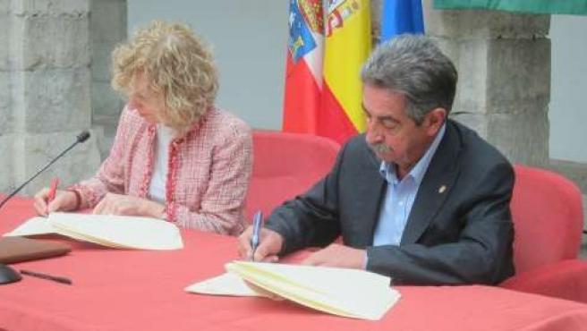 Eva Díaz Tezanos y Miguel Ángel Revilla