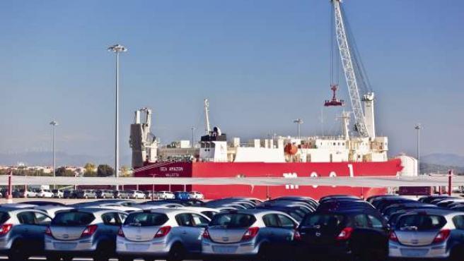 Vehículos en el Puerto de Tarragona