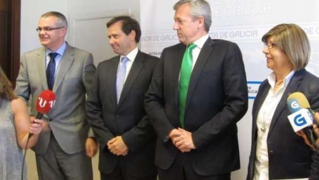Villanueva, Luis Aguilera, Rueda y Rosa Quintana