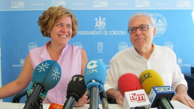 Alba Doblas y Emilio Aumente en la rueda de prensa