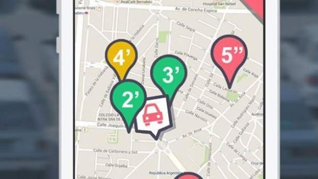 Wazypark, la 'app' para aparcar y obtener puntos para gasolina.