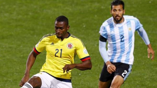El delantero colombiano Jackson Martínez, en un partido de la Copa América.