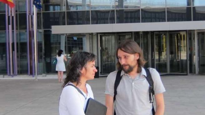 La vicealcaldesa, Luisa Broto, y el concejal Pablo Híjar en Cdad Justicia