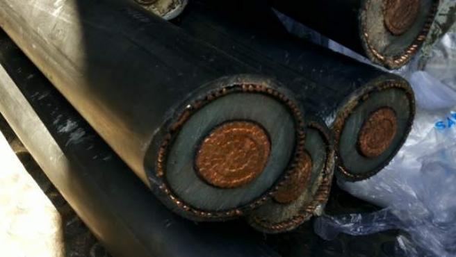 Una imagen de cable de cobre robado, en una imagen de archivo.
