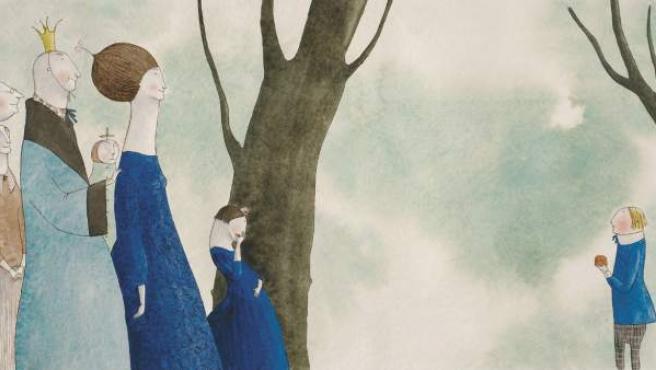 Ilustración de Elena Odriozola para el libro 'La princesa que bostezaba a todas horas'.