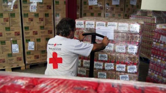 Cruz Roja inicia este jueves la entrega de alimentos en Zaragoza