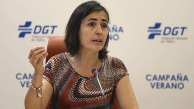 La directora general de Tráfico, María Seguí, durante la rueda de prensa.