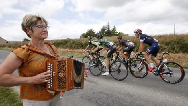 Una imagen de la octava etapa del Tour de Francia, a su paso por Bretaña.