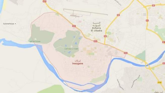 Vista de la ciudad de Inezgane, que pertenece a la región Souss-Massa-Draâ, al sur de Marruecos.