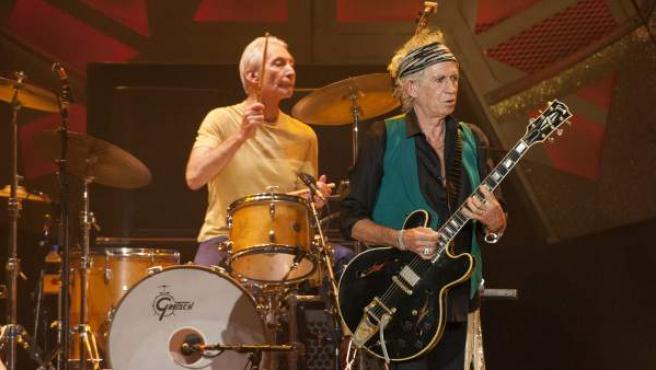 Keith Richards durante un concierto en Indianapolis con Rolling Stones.