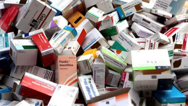 Cajas de medicamentos.