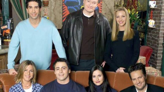 El reparto de la serie 'Friends', en una foto promocional.