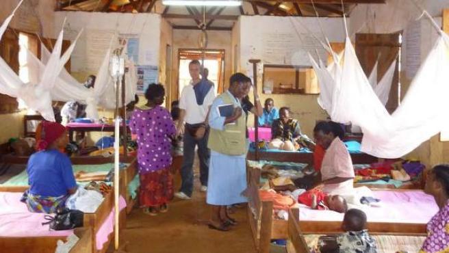 Imagen de una clínica para la malaria en Tanzania.
