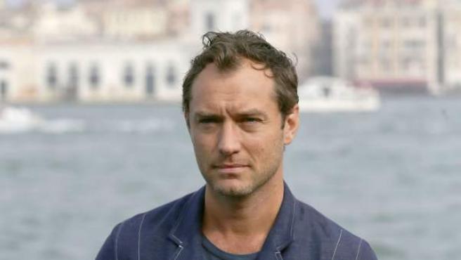 El actor Jude Law, en la Mostra de Venecia.