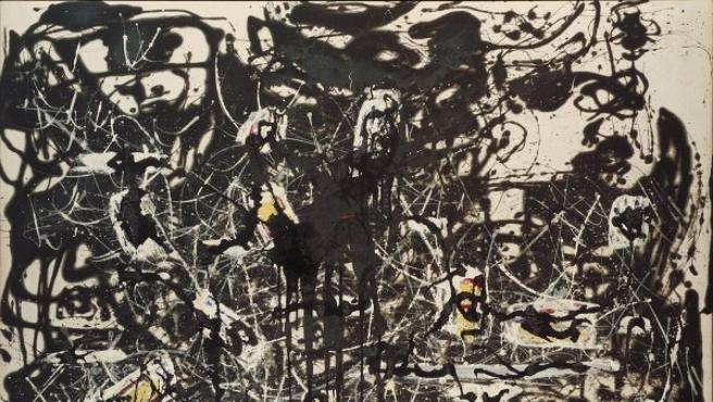 'Islas amarillas', una de las pinturas 'negras' de los últimos años de vida de Jackson Pollock
