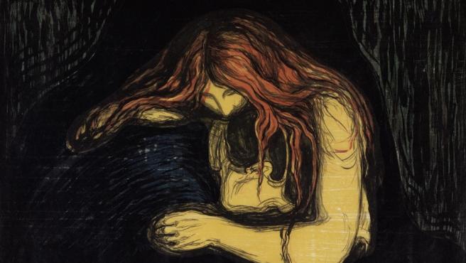 'Vampira', una de las obras que formarán parte de la exposición de Edvard Munch