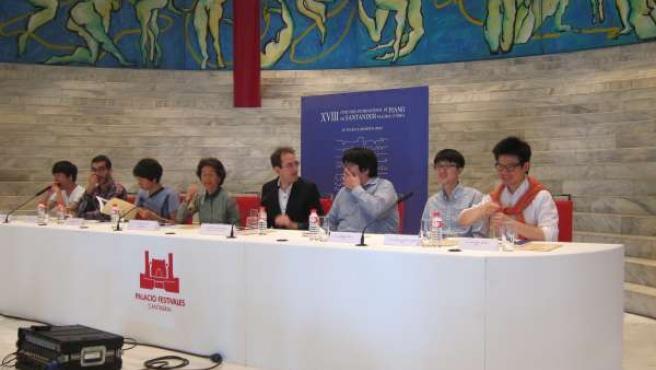 Finalistas en el Concurso de Piano de Santander