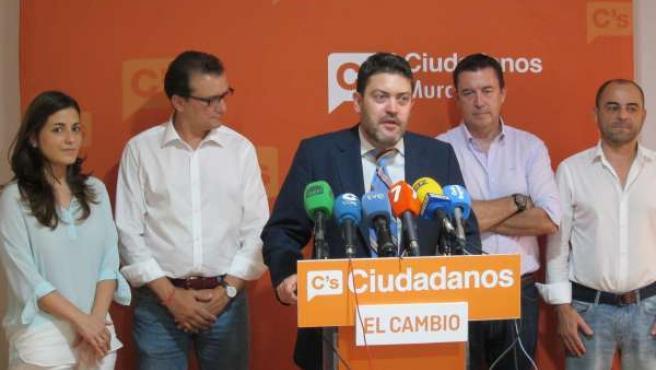 El portavoz de Ciudadanos en la Asamblea, Miguel Sánchez