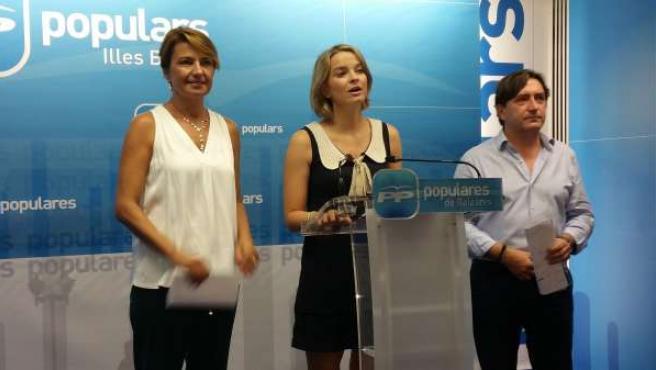 Durán, Prohens y Rovira en la rueda de prensa