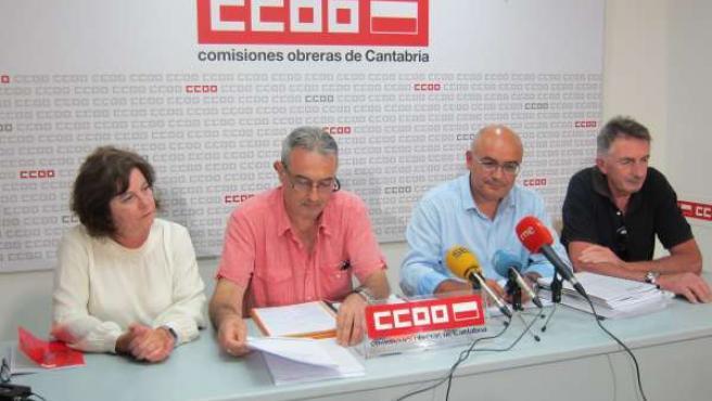 Rueda de prensa en CCOO sobre Tinamenor