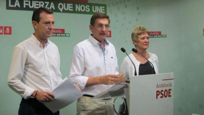 Juan Carlos Pérez Navas, José Luis Sánchez Teruel y Consuelo Rumí
