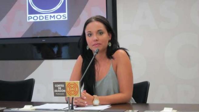 La portavoz de Podemos en las Cortes de Aragón, Maru Díaz