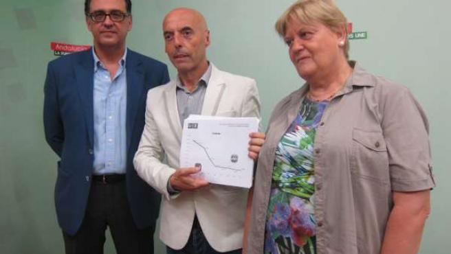 Antonio Hurtado con Angelina Costa y Antonio Luis Amaro