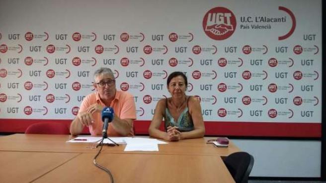 Rueda de prensa de UGT