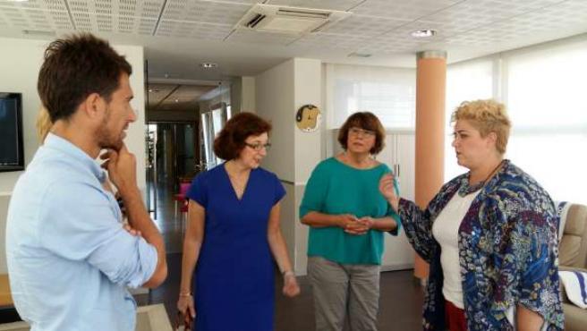 A la derecha Maite Peña en Fundación Matia.