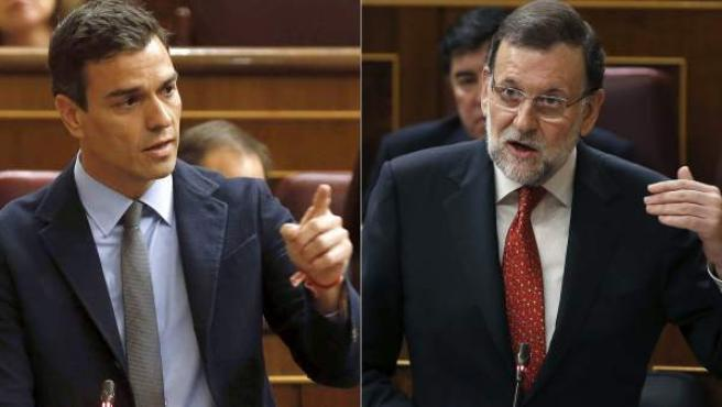 Rajoy y Sánchez, en el Congreso.