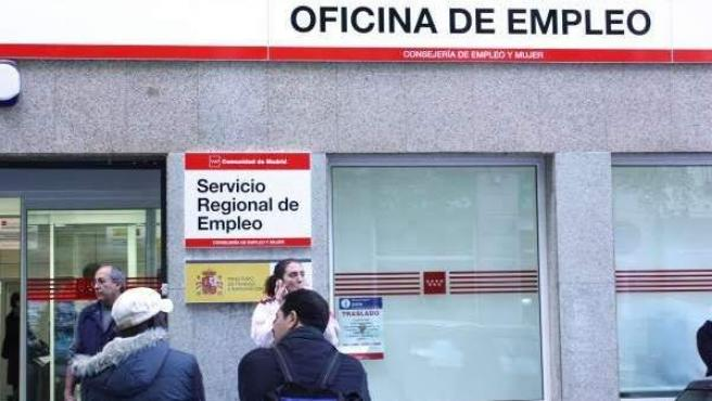 Oficina del INEM en Madrid.