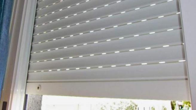 Imagen de una persiana bajada.