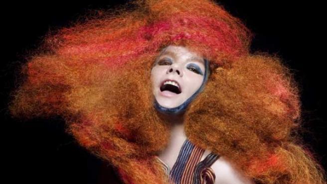 La islandesa Björk, es una foto promocional.
