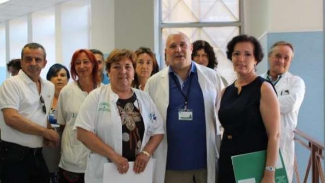 La delegada de Salud visita la unidad de hospitalización de salud mental
