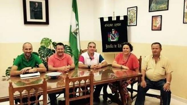 Visita institucional bendodo a ayuntameinto jimera de líbar alcalde francis lobo