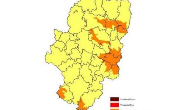 Prealerta naranja por riesgo de incendios forestales