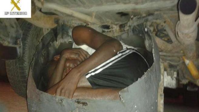 Un inmigrante rescatado en Melilla