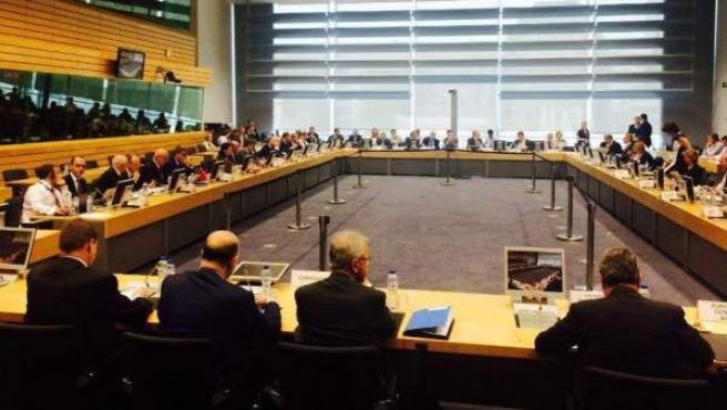 Miembros del Eurogrupo reunidos.