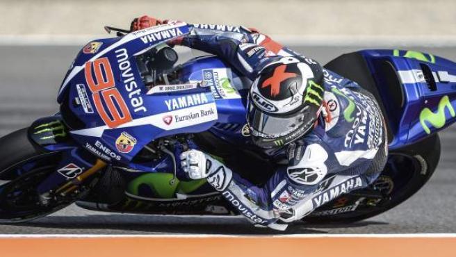 Jorge Lorenzo durante el GP de la República Checa.