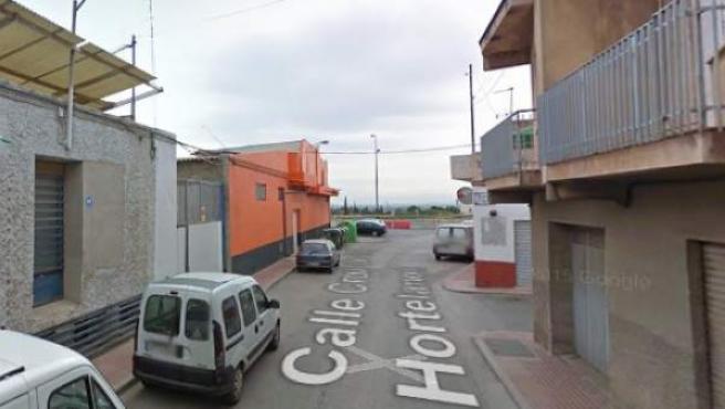 Calle Cruz de los Hortelanos, Totana (Murcia).