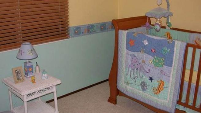 Imagen del cuarto de un bebé.
